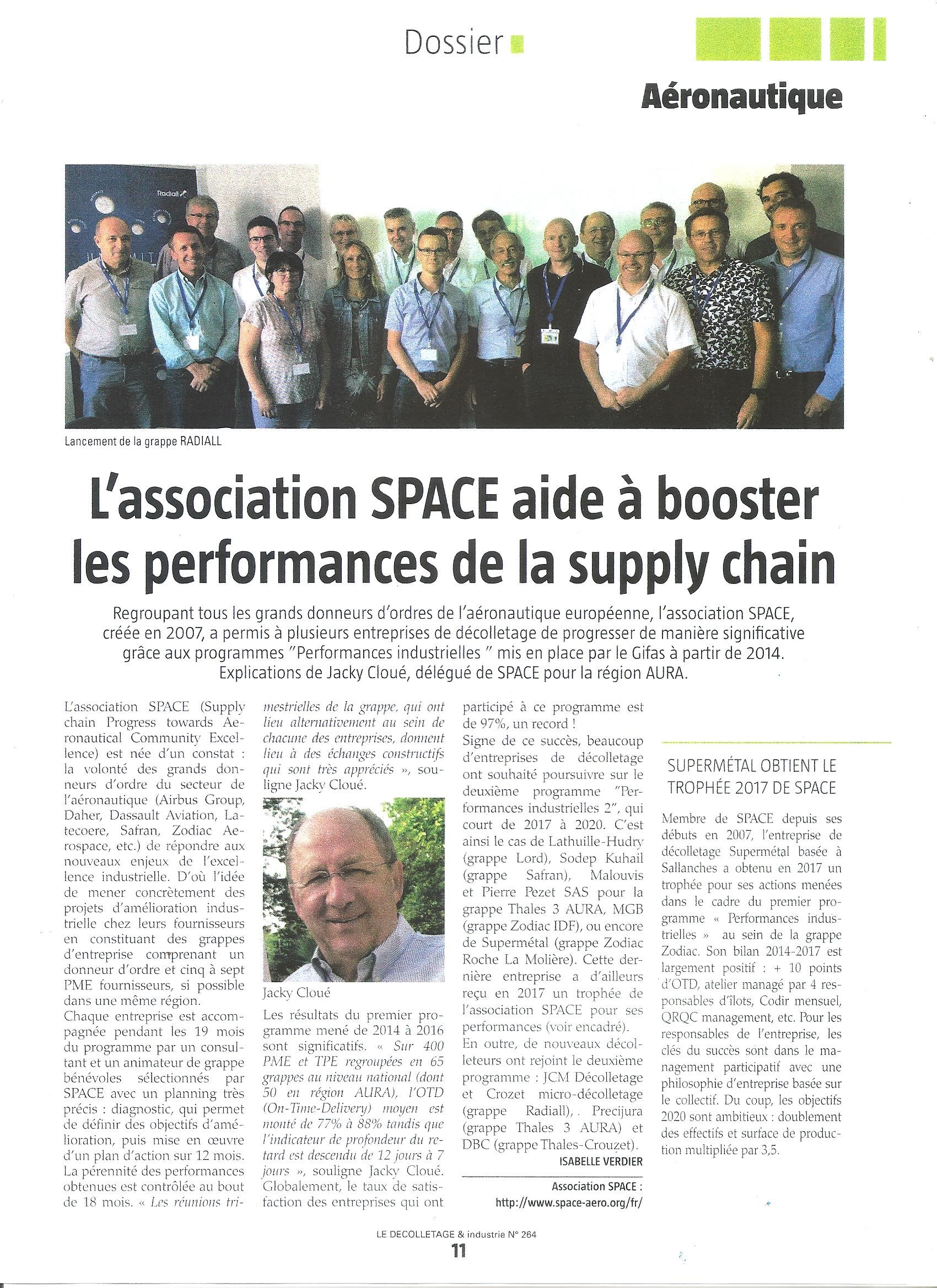 L'association SPACE Aide à Booster Les Performances De La Supply Chain