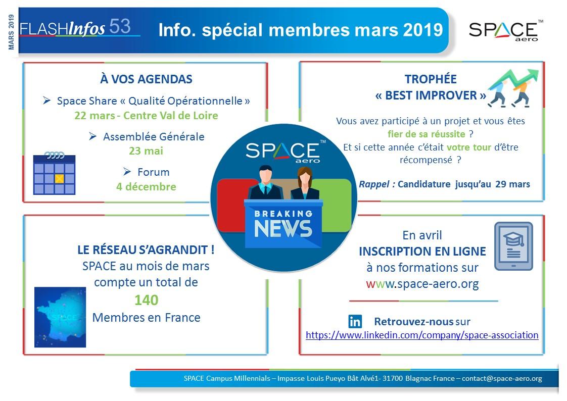 Flash Nr.53 : Info. Spécial Membres Mars 2019