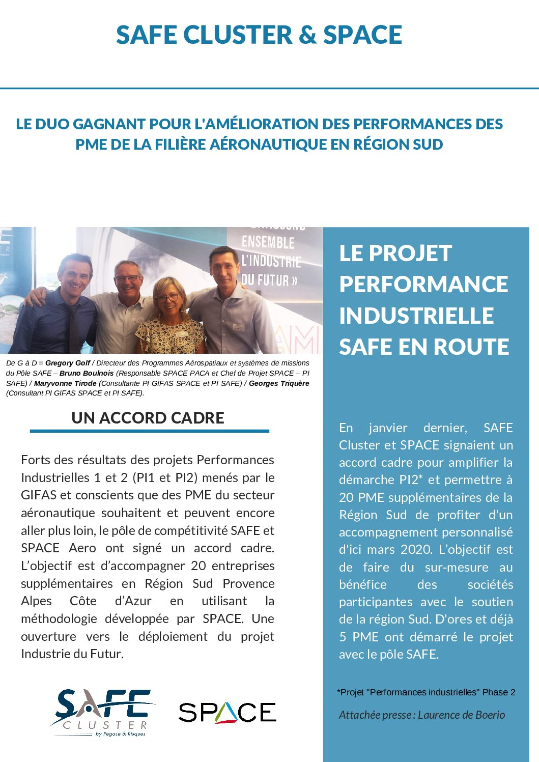 SAFE CLUSTER & SPACE – Le Duo Gagnant