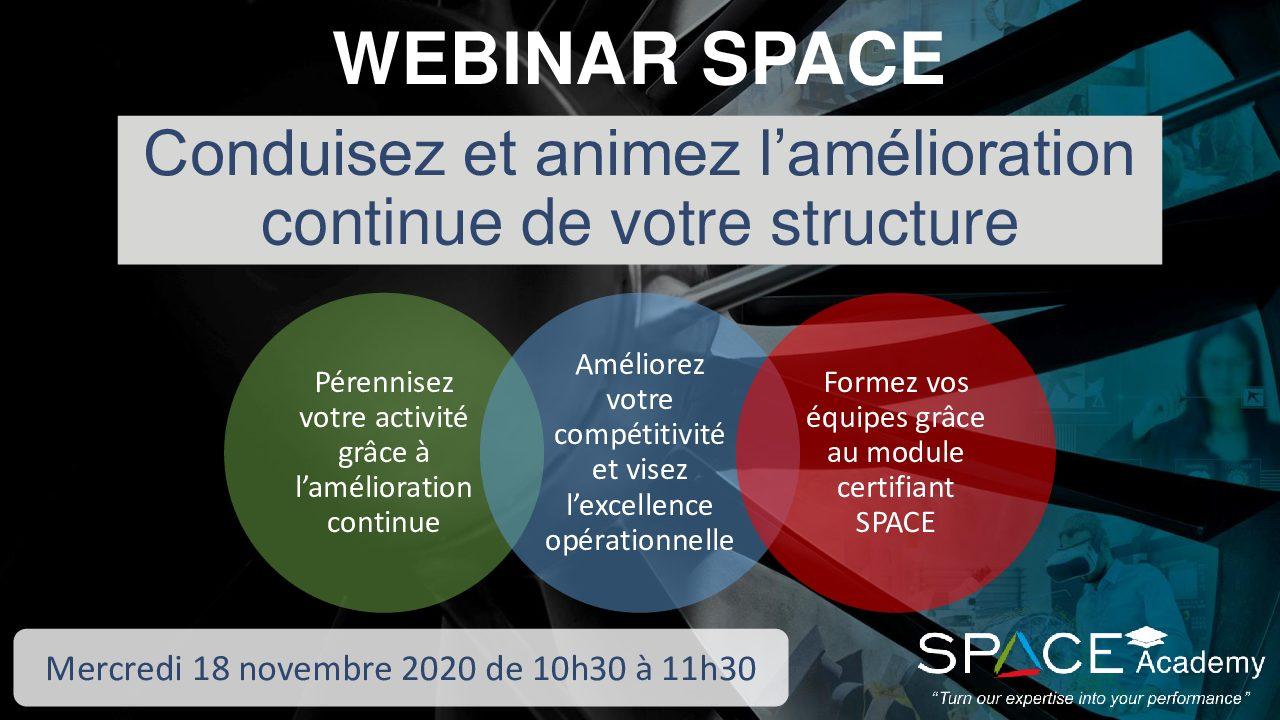 WEBINAR SPACE 18/11 : Conduisez Et Animez L'amélioration Continue De Votre Structure